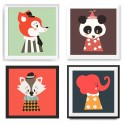 POSTER CLOWN ANIMAUX
