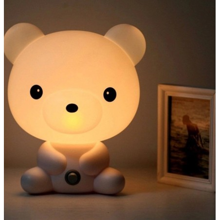 LAMPE BEAR BLANC